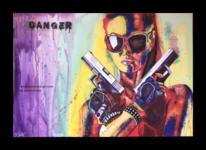 Brille, Abstrakt, Farben, Pistole
