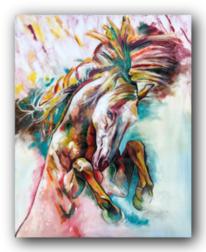Bunt, Wildespferd, Wild, Malerei