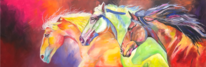 Pferde, Acrylmalerei, Acrylpainting, Pferdeherde