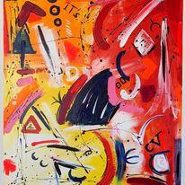 Abstrakt, Leben, Modern art, Acrylmalerei