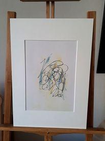 Passepartout, Abstrakte kunst, Kreativ, Ölfarben