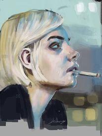 Digitale malerei, Augen, Digitale kunst