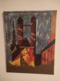 Kirche, Acrylmalerei, Malerei,
