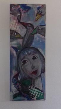 Portrait, Märchen, Mädchen, Malerei