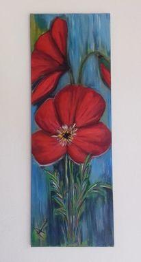 Farben, Acrylmalerei, Mohnblüten, Malerei