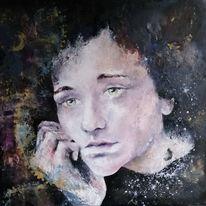 Corona, Angst, Ölmalerei, Malerei