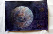 Planet, Augen, Weltall, Malerei