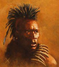 Portrait, Indianer, Malerei, Western art