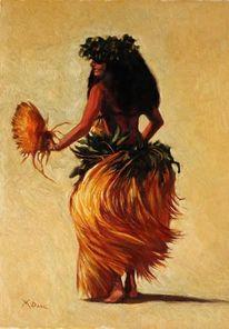 Menschen, Südsee, Frau, Tahiti