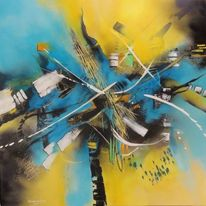 Mischtechnik, Informelle malerei, Abstrakte malerei, Malerei