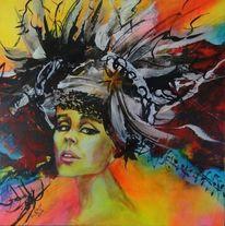 Portrait, Fantasie, Frauenportrait, Malerei