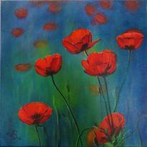 Poppys, Blumen, Sommer, Mohnblumen