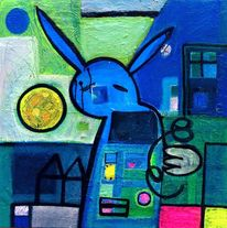 Fantasie, Malerei, Hase, Figur