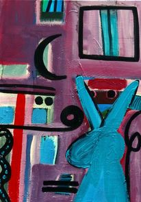 Abstrakt, Malerei, Farben, Figur