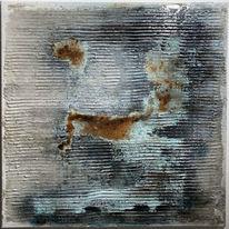 Acrylmalerei, Epoxidharz, Metall, Abstrakt