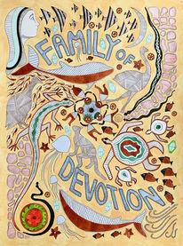 Aborigines, Entstehung, Aquarellmalerei, Schöpfung