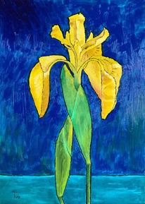 Teich, Ölmalerei, Wasser, Blüte