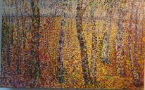Birkenwald, Ölmalerei, Malen, Wohl ehemalige ddr