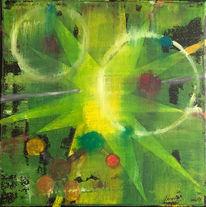 Urknall, Wasserstoff, Helium, Acrylmalerei
