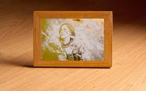 Weißes papier, Metallicbild, Gold, Druckgrafik