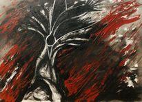 Vogel, Sturm, Baum, Malerei