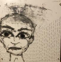 Wissen, Gesicht, Malerei, Weiß