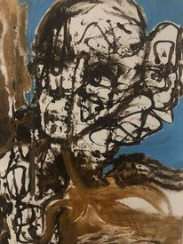 Gesicht, Kopf, Malerei,