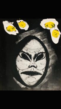 Gelb, Gesicht, Ei, Malerei