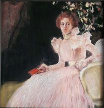 Pastellmalerei, Frau, Sitzen, Zeichnungen