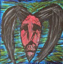 Teufel, Traurig, Acrylmalerei, Malerei