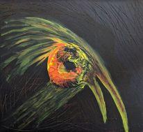 Kopf, Acrylmalerei, Brett, Vogel