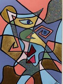 Blick, Malerei abstrakt, Bunt, Formen