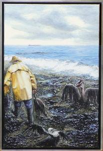 Katastrophe, Ölmalerei, Vogel, Naturschutz