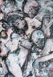 Abstrakt, Mixed media, Malerei, Menschen