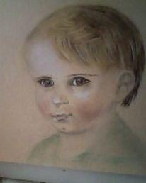 Portrait, Menschen, Buntstifte, Malerei