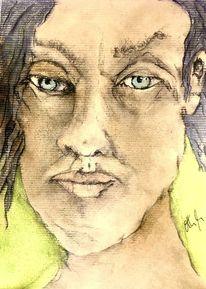 Augen, Graues haar, Pastellmalerei, Malerei