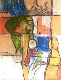 Armut, Trichter, Kind, Malerei