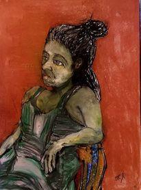 Wut, Frust, Nachricht, Malerei