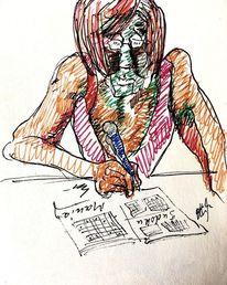 Zeichnung, Sudoku, Nicht blöd, Zeichnungen