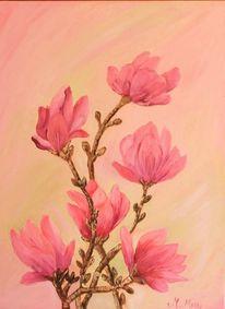 Malerei, Blumen, Artdeco