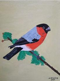 Äste, Bunt, Vogel, Malerei