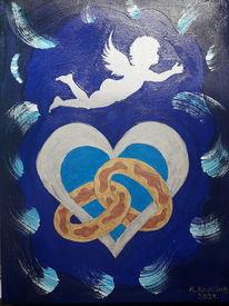 Schutzengel, Ring, Herz, Malerei