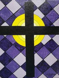 Erlleuchtung, Bunt, Kreuz, Malerei