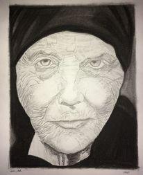 Alter, Frau, Leben, Zeichnungen
