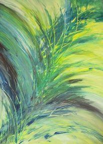 Abstrakt, Acrylmalerei, Gras, Malerei
