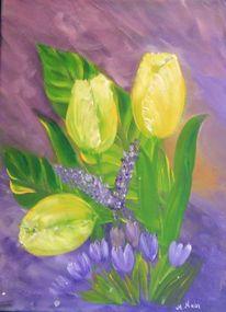 Blumen, Malerei, Acrylmalerei, Tulpen