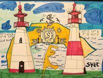 Landkarte, Sylt, Landschaft, Leuchtturm