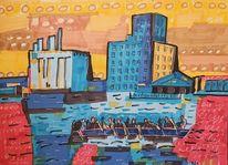 Drachenbootregatta, Postindustriell, Duisburg, Innenhafen