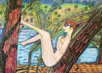 Körper, Urwald, Schatten, Baum