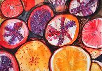Saftig, Acrylmalerei, Früchte, Malerei